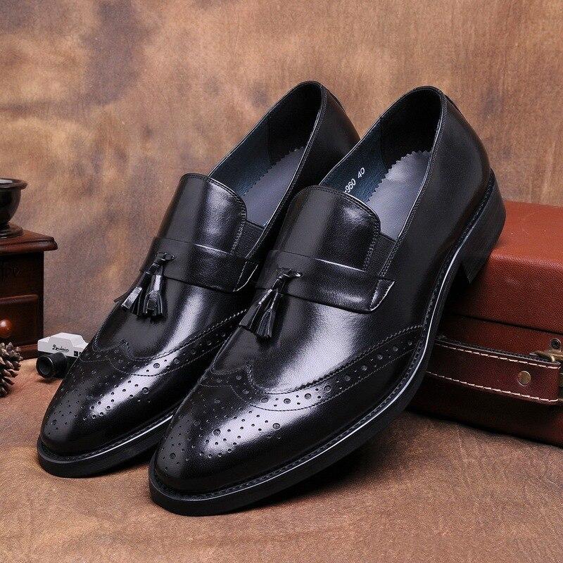 Vestido Vinho Mycoron Couro Homme Dos Shoes Chaussure Homens New Cuir vermelho Formal Preto De Alta Clássicos Botas Qualidade Senhores Negócios Sapatos RRqnpAXrw