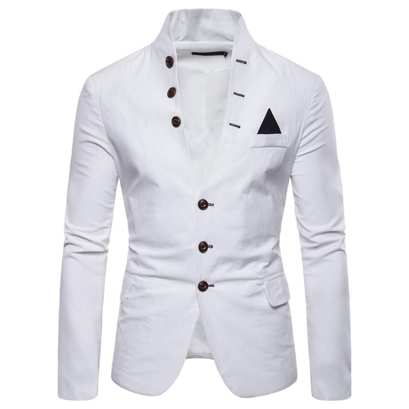 Men Blazer Slim-Fit England Wedding Fashion Luxury Tuxedo Party Single-Breasted High-Quality