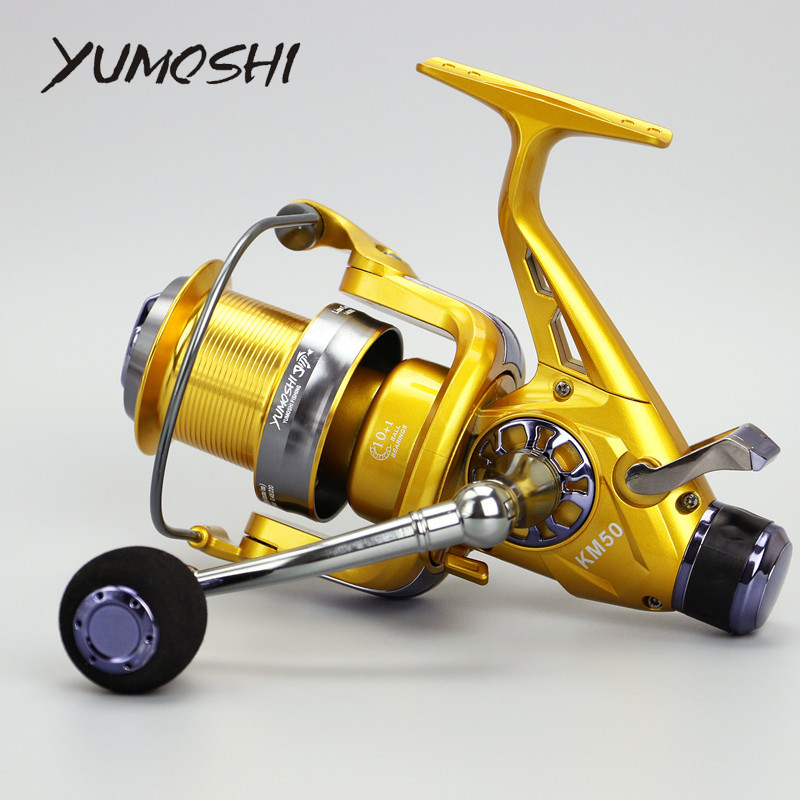 2017 New Front and Bear KM50 60 10 1 5 2 1 Metal Head Reel Fishing