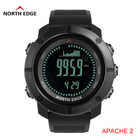 North Edge Men Sports Watches Waterproof 50M LED Digital Watch Men Military Compass Altitude Barometer