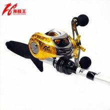HLW 19BB Brand Saltwater Fishing Baitcasting Reel Left Right Hand Metal Spool Handle Bait Casting Reel Fishing Reel Carbon Reels