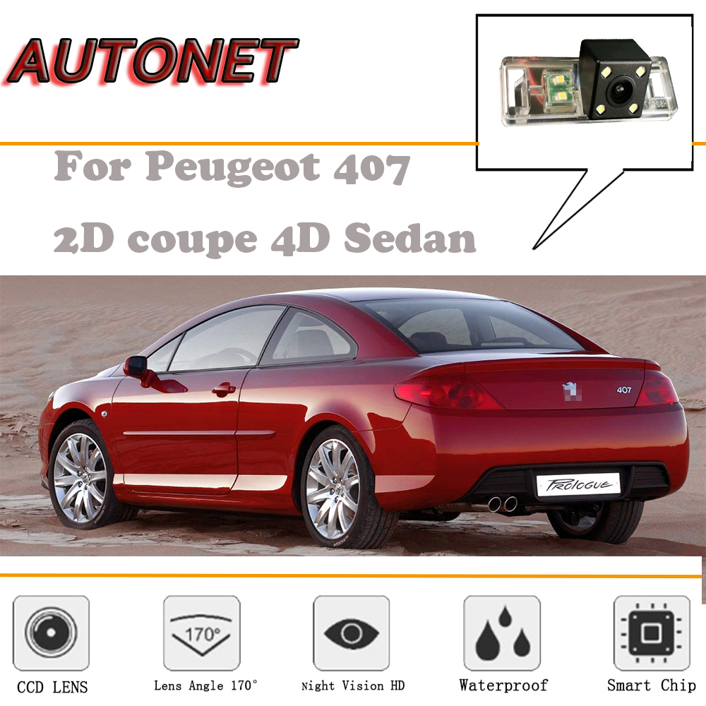 Rear View Camera For Peugeot 407 Coupe Sedan 20042010 Rca Aux 406 Estate Fuse Box Layout Autonet 2d 4d Night Vision