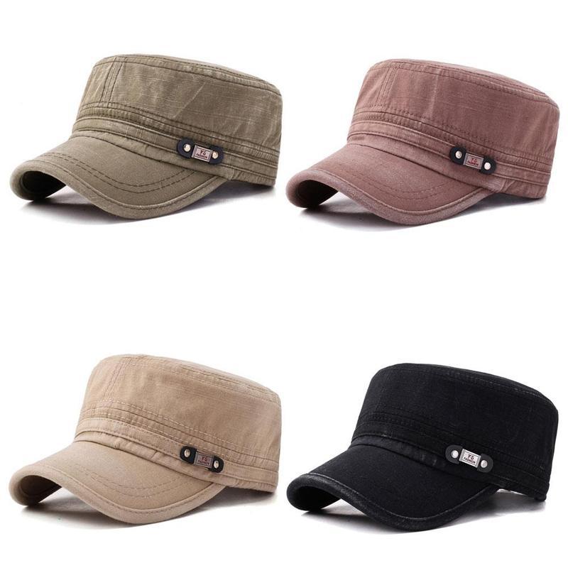 Classic Army Plain Hat Cadet Combat Field Military Cap Outdoor Sunhat Adjustable