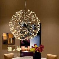 Vintage hanging lamp Loft Chandelier lighting modern led Retro nordic light dandelion suspension luminaire Lights handmade