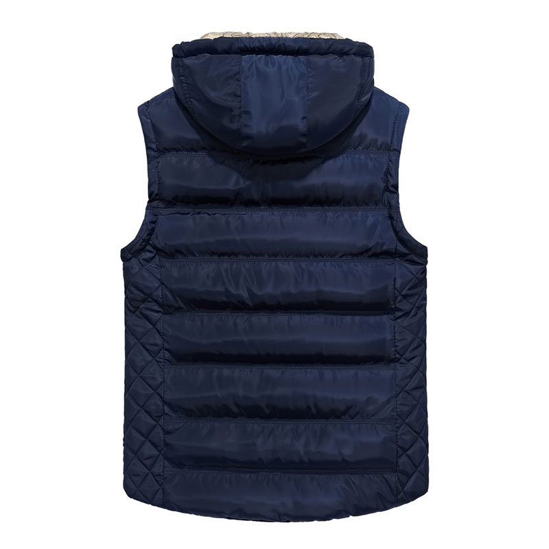Autumn Casual Vest Men New Waistcoats Hooded Vests Fitness Men Winter Warm Vest Turn-down Collar Zipper Sleeveless Coats