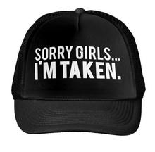 Lo siento Niñas im tomado impresión gorra de béisbol sombrero de camionero  para las mujeres hombres fe157eb2cd2