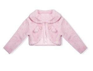 Image 2 - ดอกไม้ใหม่หญิงเสื้อแจ็คเก็ตเด็ก Warm Faux Fur Party งานแต่งงานเจ้าสาวเสื้อชุดราตรี Bolero เด็กฤดูใบไม้ร่วงที่อบอุ่นฤดูหนาว Shrug Drop การจัดส่ง