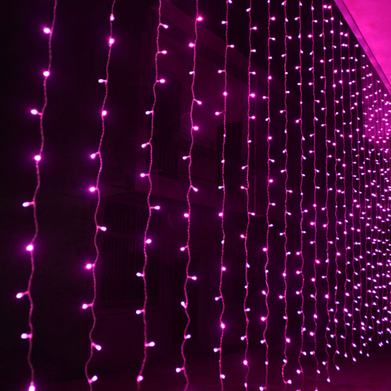 FENGLAIYI 300leds Fairy String Icicle Led Curtain Light 3x3M Outdoor Home Xmas Christmas Wedding New Year Garden Party Decor