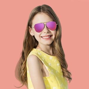Image 5 - Youpin TS אופנה בציר משקפי שמש קלאסית מתכת מסגרות TAC מקוטב משקפי שמש אנטי UV ילדי Chirdren משקפי שמש Eyewear