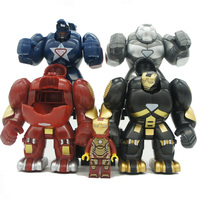 8 шт. Супер Герои DC Marvel Железный человек с халкбастера модель строительные блоки просвещать рисунок игрушки для детей Совместимые