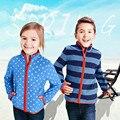 Nueva Primavera y Otoño 2017 Niños de La Manera Muchachos de Las Muchachas sudaderas con capucha de marca de la Cremallera Bebé niños niñas Chaquetas de Lana Polar Niños Outwear abrigos