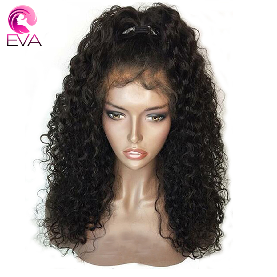 360 Lace Frontal Curly Human Hair Wigs Pre Plucked With Baby Hair Brazilian Remy Glueless Hair Wig For Black Women Eva Hair