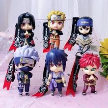 2019 Anime Naruto Keychain Cartoon Kakashi Gaara Sasuke Uzumaki Naruto Figure Doll Keyrings for Women Bag  Pendant Accessories цена и фото