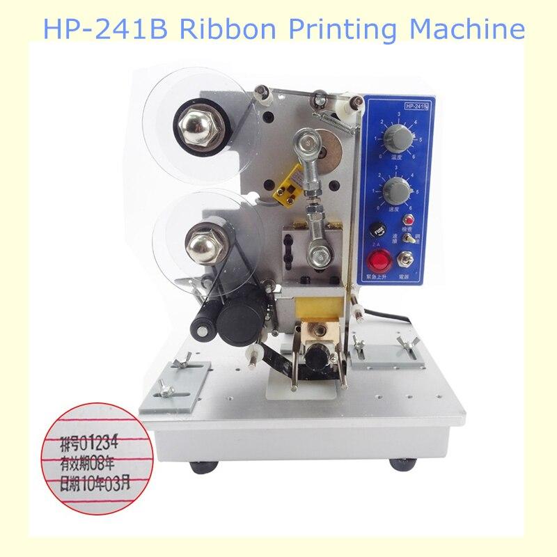 HP-241B Electric Ribbon Date Printing Machine Date Coder Semi Automatic Plastic Bag Printing And Coding Machine  semi automatic electric hot stamp ribbon coding printer machine coder hp 241b