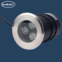 Luz de piscina impermeable IP68 1w 3W led luz subacuática SMUD-5