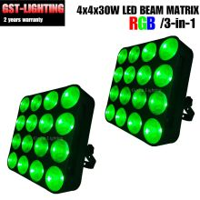 2pcs/lot 16x30w 3in1 RGB dot control Matrix led wash stage audience light(China)