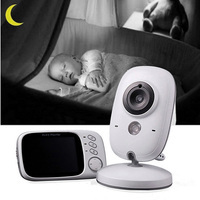 Two Way Audio Talk 3.2inch 2.4G Wireless Video Baby Monitor Night Vision LCD Screen Temperature Monitor Security Care Baby