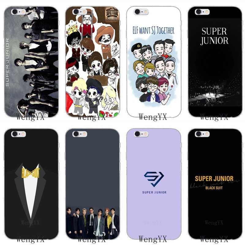 a86360b80206 kpop Super Junior Slim silicone Soft phone case For Xiaomi Mi 6 A1 5 5s 5x