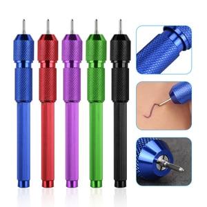 Image 1 - Tattoo Marker Pen Tattoo Supplies Microbalcing Pen Skin Marker Pen Scribe Tool Permanente Inkt 1.6Mm Bal Voor Dawing Flash