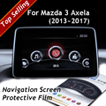 For Mazda 3 Axela 2013+ 2014 2015 2016 2017 Car Styling GPS Navigation Screen Protective Film 4H Scratchproof Auto Accessories