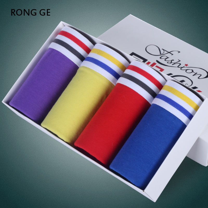rongge2017 new arrivals mens underwear cotton boxers homme solid L XL XXL XXXL BOXER SHORTS FOR MEN UNDERWEAR not gift box k05