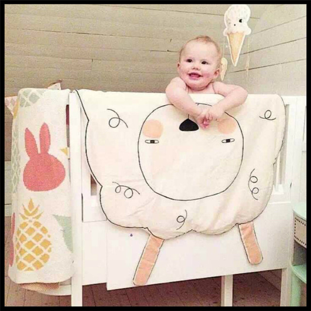 2015 New Brand New Cotton Baby Sheep Blanket Baby Playing Mat