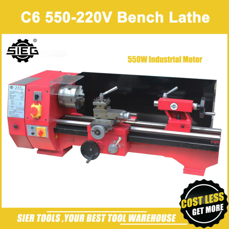 Bench Lathe Metal Part - 48: Aliexpress.com : Buy C6 550 220V Bench Lathe/Sieg 550W Industrial Motor  Horizontal Lathe From Reliable Lathe Metal Suppliers On Changsha Gumeng  Machinery ...