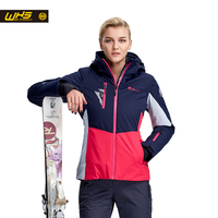 WHS New Women Ski Jackets Brand Outdoor Windproof Skiing Coat Woman Snow Clothes Breathable Suit Ladies