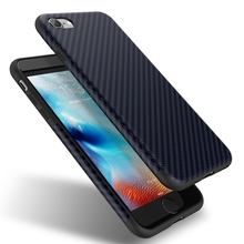 US Stock !!! Roybens Originality Fiber Carbon Case For iPhone 6 6S Plus Soft Silicon TPU Cover For Apple iPhone 7 Case Coque