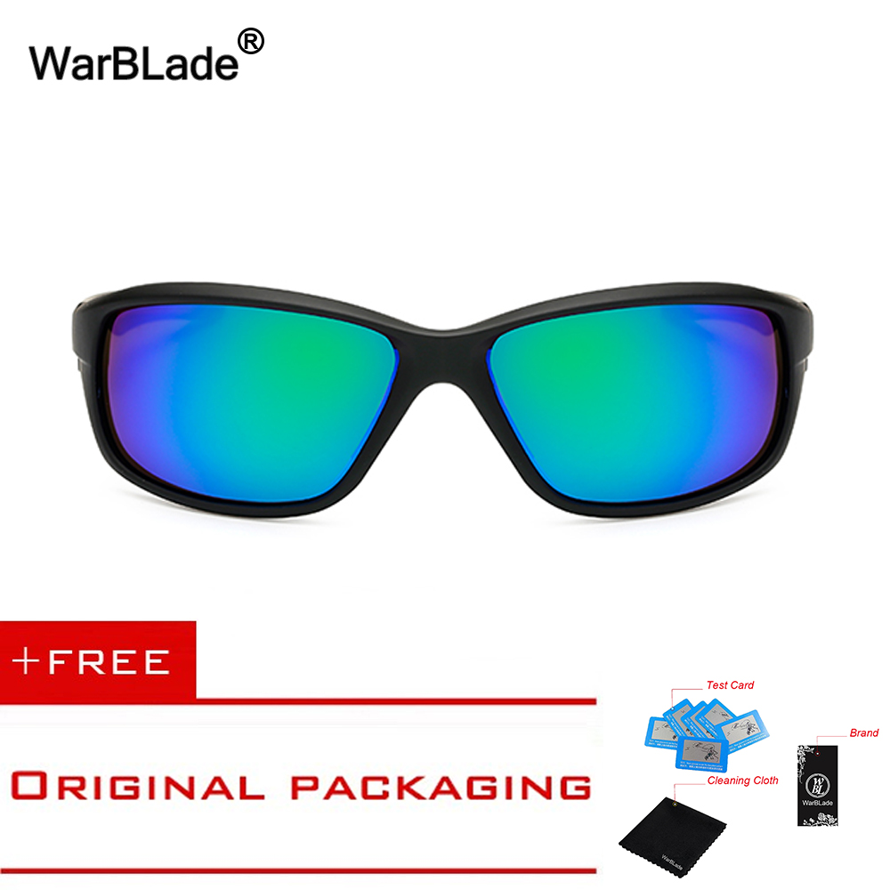 808e28268f BRAND DESIGN Polarized Sunglasses Driving Sports Style Sun Glasses for Men  Women Vintage Eyewear Accessories UV400 WarBLade