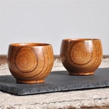 Деревянная чашка, деревянная кружка для кофе, чая, пива, сока, молока, воды, примитивная модная деревянная пивная кружка ручной работы, высокое качество, натуральная чашка, Прямая поставка