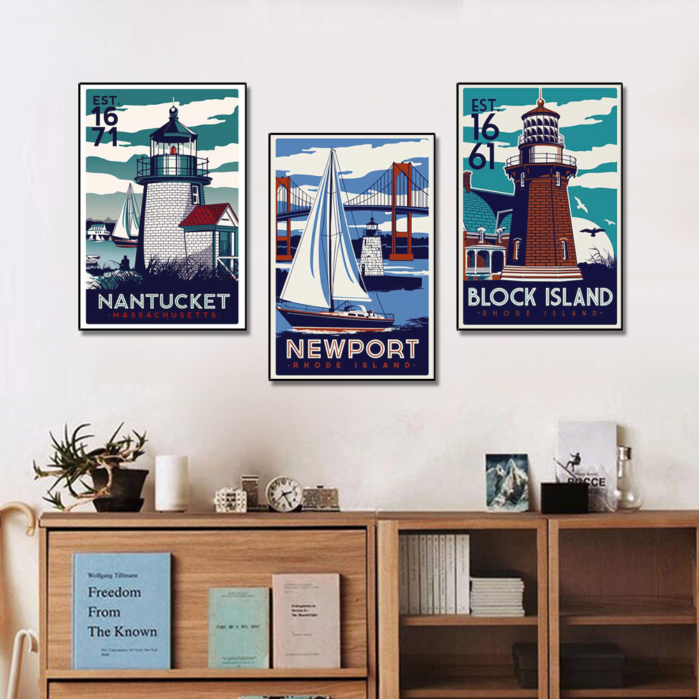 Unframed Multiple Pieces HD Canvas Painting Posters Beach Wall Pictures Prints Wall Pictures For Living Room Wall Art Decoration