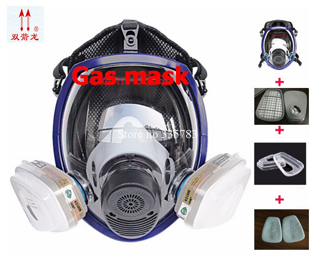 High quality gas mask 6800 Full Facepiece Reusable Respirator Free Shipping 3m 6800 6006 full facepiece mask reusable respirator filter protection masks anti multi acid gas