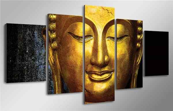 5 Pieces/set Hd Printed The Golden Buddha Painting Canvas Print Room Decor Print Poster Picture Canvas Print Painting Pictures