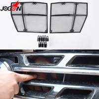 For Nissan Patrol Y62 2011 2016 2017 Car Front Mesh Grille Grill Grid Inserts Fly Dust Net Stainless Steel 2PCS Car Styling