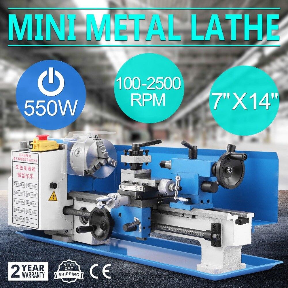 550 W di Precisione Mini Tornio Metallo Lavorazione Dei Metalli A Velocità Variabile Utensili Infinite