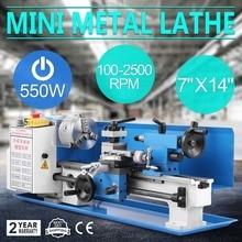 550 Вт прецизионный мини-металлический токарный станок с переменной скоростью