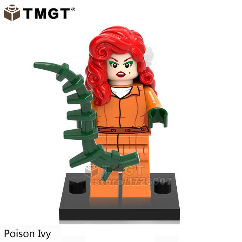 Única Venda Super Heroes Catwoman Hera Venenosa Calendário Homem Harley Quinn Joker Building Block Brinquedos Presente Para As Crianças