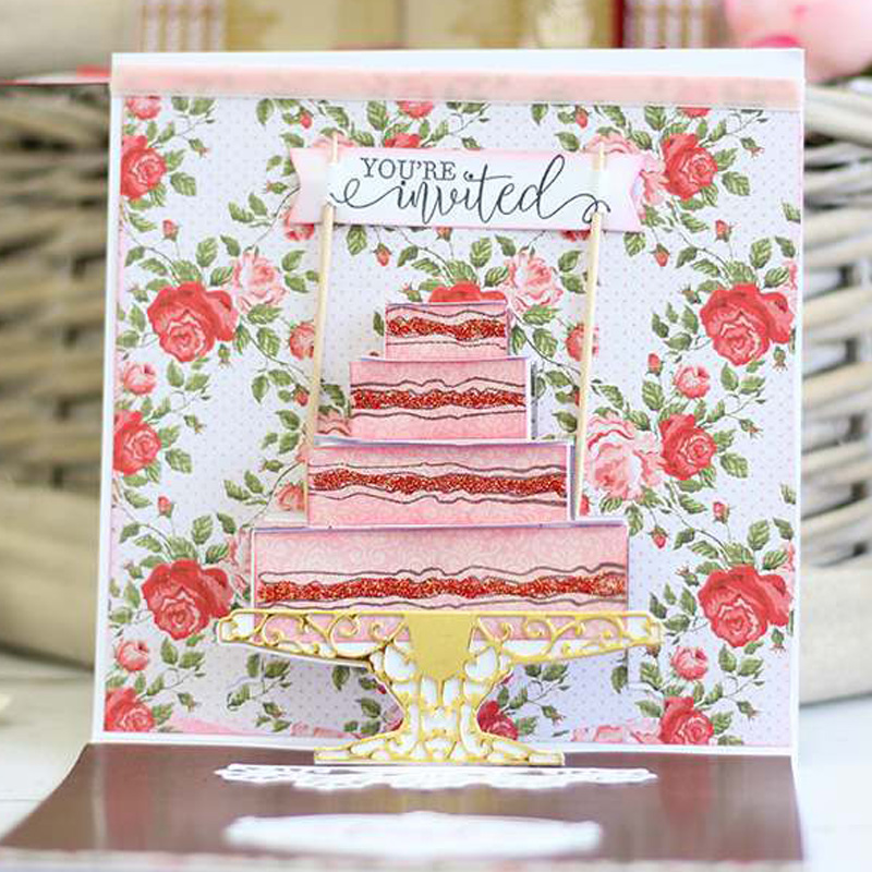 Sweet Cake Metal Cutting Die Handmade Craft Card Photo Decoration DIY Template Scrapbooking Embossing Stencil in Cutting Dies from Home Garden