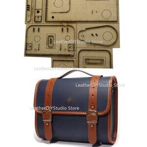 Japan Steel Blade Rule Die Cut for DIY Leather Craft Mini Handbag Digital Camera Bag Mould Dies Hand Punch Tool 25x18x10.5cm(China)