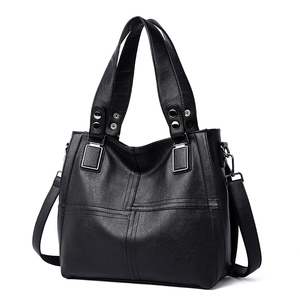 Image 2 - NEW Fashion Leather Women Bags Handbags Women Famous Brands Luxury Designer Plaid Sholder Bag Ladies Big Casual Tote Sac A Main