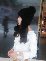 Vera Pelliccia di visone cappelli paraorecchie cappelli da donna cappello di inverno caldo di stirata