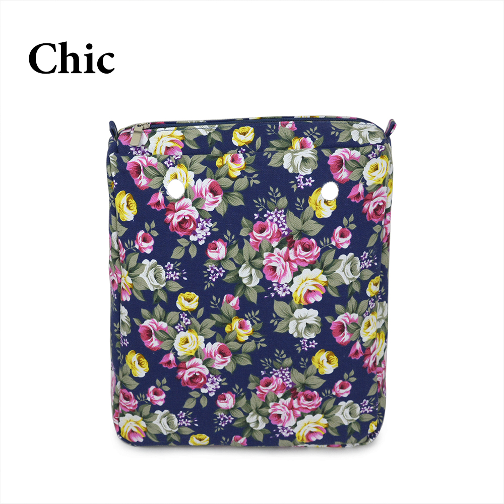 New Colorful Cartoon floral Insert Lining for O CHIC OCHIC Canvas Waterproof Inner Pocket for Obag women handbag new canvas insert tela insert for o chic lining canvas waterproof inner pocket for obag ochic