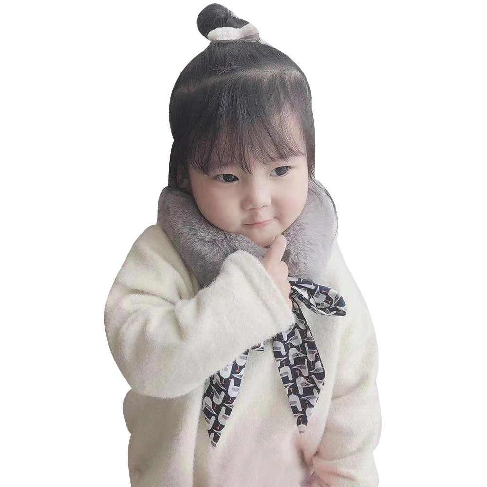 Nuevo Vintage Chic Long Square \ moda suave de felpa Correa ATA hacia arriba bebé niñas bufanda chico invierno al aire libre Collar Decoración