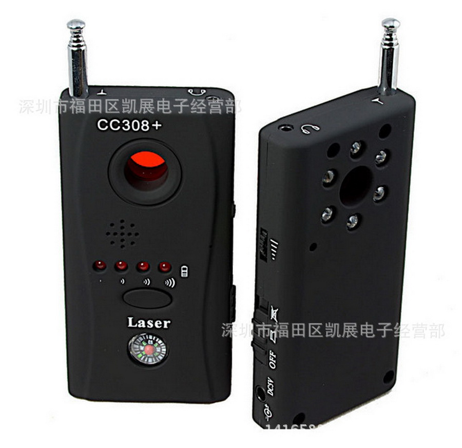by dhl or ems 50pcs Wireless RF Signal Detector CC308 Multi Function Camera Bug GSM Alarm