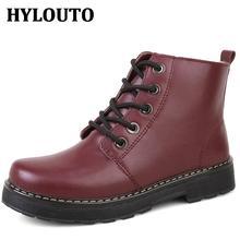 Hiver Hauteur Croissante Femmes Boot Solide Couleur Classique Mode Chaussures de Marche En Plein Air Mujer Zapatos Martin bottes M024