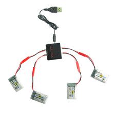 High Quality 4PC 3.7V 750mAh Battery + 4 in 1 Charger For MJX X300/X400/X800 RC Quadcopter Toys Wholesale