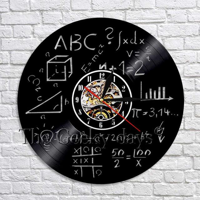 1 Stück Mathematik Wissenschaft Vinyl Wanduhr Handgemachte Kunst Dekoration  Math Formel Zimmer Küche Schlafzimmer Decor Geschenk Für Mathematik ...