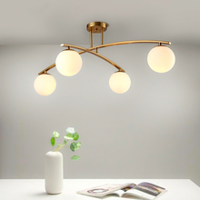 Postmodern LED chandelier ceiling living room lamps bedroom fixtures novelty Nordic Glass ball restaurant hanging lights