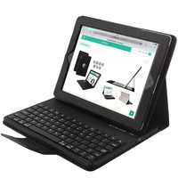 Keyboard bag for iPad 2 3 4 Folding Leather Folio Cover Removable ABS Bluetooth Keyboard for funda iPad 2/3/4 Tablet bag capa